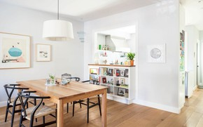 Picture interior, New York, dining room, Brooklyn Rowhouse