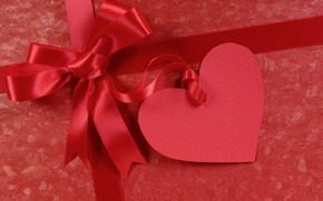 Picture holiday, heart, bow, Valentine's day