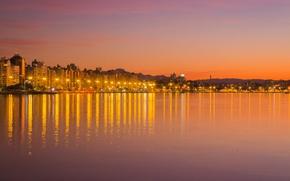 Picture twilight, sunset, hills, dusk, Brasil, Santa Catarina, Florianópolis