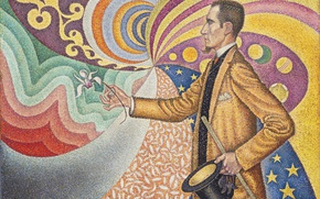 Picture picture, Paul Signac, Portrait Of Felix Feneon, pointillism