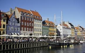 Picture Denmark, Court, Promenade, Channel, Denmark, Town, Copenhagen, Copenhagen, Nyhavn, Nyhavn