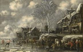 Picture landscape, Winter, picture, Thomas Heremans