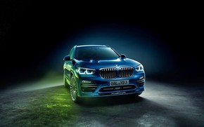 Picture BMW, BMW, black background, background, Alpina, XD3, All-wheel drive, G01