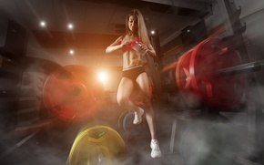 Picture Woman, fitness, gym, nutritious products