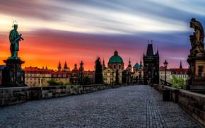Wallpaper Charles bridge, Czech Republic, Prague, Nove Mesto