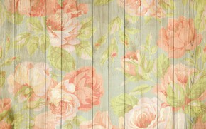 Wallpaper background, texture, vintage, peonies