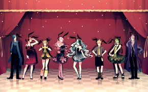 Picture scene, rabbits, rabbits, Vocaloid, Vocaloid, characters