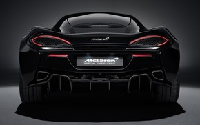 Picture lights, McLaren, supercar, rear view, 2018, MSO, 570GT, Black Collection