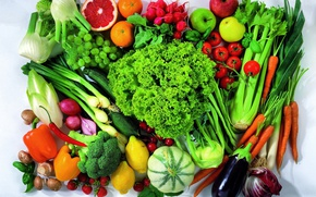 Picture apples, strawberry, grapes, pepper, vegetables, tomatoes, carrots, cabbage, salad, tangerines, peppers, apples, tomatoes, strawberries, vegetables, …