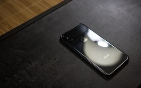 Picture Apple, Black, Califorina, Cupertino, iPhone X