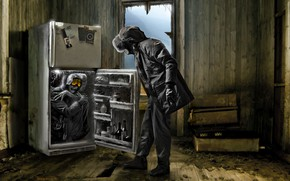 Picture refrigerator, the room, Romantically Apocalyptic, surprise