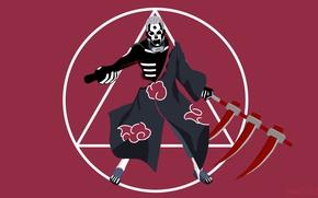 Wallpaper sake, Naruto Shippuden, nukenin, Yugakure, Jashin, rank-S, Naruto, by tenorbonastics, hitaiate, evil, minimalism, blood, shinobi, ...