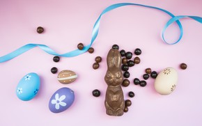 Picture chocolate, Easter, Eggs, Holiday, chocolate Bunny