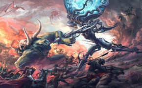 Picture dragons, monsters, battle, knights, monster, Thomas Chamberlain - Keen