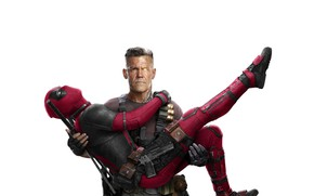Wallpaper Morena Baccarin, Girl, Action, Ryan Reynolds, Superheroes, Men, Guns, Deadpool, 2018, Colossus, MARVEL, Josh Brolin, ...
