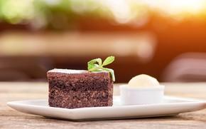 Picture food, ice cream, cake, dessert, sweet, chocolate