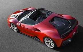 Picture asphalt, red, Ferrari, Roadster, 2017, J50
