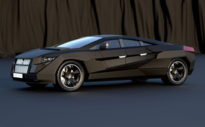 Picture car, black, style, technology