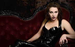 Picture Beautiful, Mystic, Black, Look Into My Eyes, Gothic, Look, Pose, Lipstick, Leather, Beautiful Babe, Burgundy