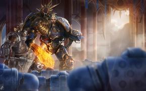 Wallpaper lord of ultramar, guilliman, Warhammer, Warhammer 40K, WH40K