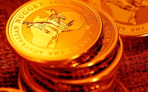 Wallpaper coins, money, gold, Shine