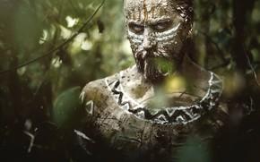 Wallpaper look, paint, beard, man, aboriginal