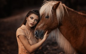 Picture makeup, sponge, horse, Alessandro Di Cicco, The Pony