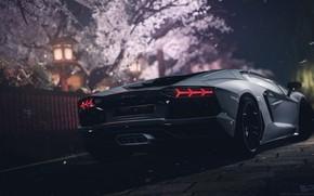Wallpaper Aventador, lamborghini, Gran Turismo, Night