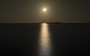 Picture sea, the sun, the sky, sunset