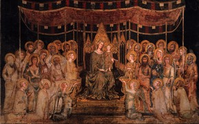 Picture mural, The Sienese school of painting, Simone, Tartini, The Council hall in the Palazzo, Maesta