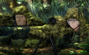 Picture weapons, plants, ambush, guys, Grisaia: Phantom Trigger