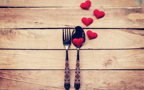 Picture love, heart, spoon, hearts, love, plug, heart, wood, romantic, Valentine's Day, serving