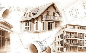 Picture design, architecture, table, interiors, Construction, engineering, housing, plans, projects, soil movement