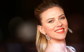 Wallpaper smile, celebrity, Scarlett Johansson, brown hair, scarlett johansson