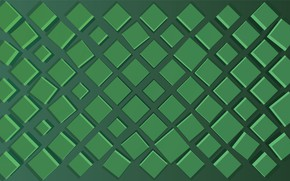 Wallpaper green, square, background, shades