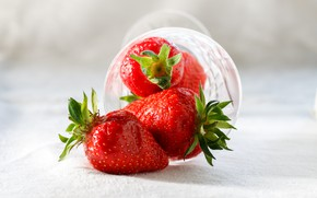 Wallpaper Berries, Strawberry, Strawberry