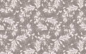 Wallpaper vector, background, texture, vintage, leaves