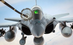Picture the fourth generation, air refueling, The French air force, Dassault Aviation, Rafale, French multi-role fighter