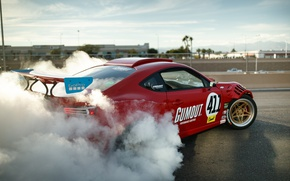 Wallpaper Engined, Ferrari, photographer, tuning, Toyota GT86, smoke, Larry Chen