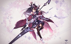 Picture girl, weapons, anime