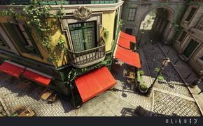 Picture angle, balcony, Lumberyard, Bistro Scenes