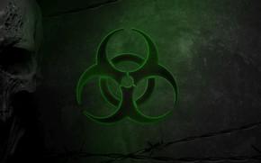 Picture Skull, Green, Virus, Green, Sake, Biohazard, Danger