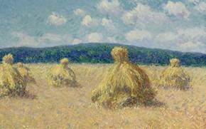 Picture field, landscape, picture, Gustave Loiseau, Stack, Gustave Loiseau