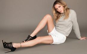 Picture look, girl, pose, figure, jacket, Katie Cassidy