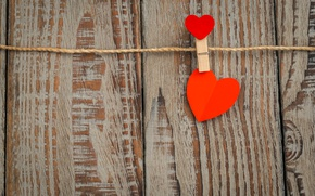 Picture heart, love, heart, wood, romantic