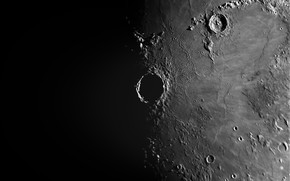 Picture surface, the moon, satellite