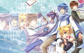 Picture music, anime, art, guys, Vocaloid, Vocaloid