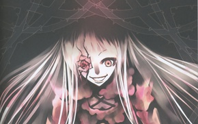 Picture darkness, madness, Rozen maiden, Rozen Maiden, obsessed, thorns, hell of a grin, Kirakishou