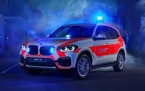 Picture 2018, crossover, flashers, ambulance, BMW X3, xDrive20d