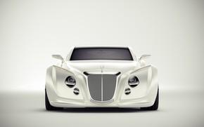 Picture Auto, Bentley, White, Machine, Background, Art, Suite, Andreas Ezelius, Bentley Luxury Concept